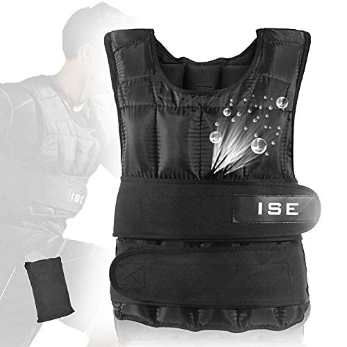 ISE 10 kg Gewichtsweste Warnwesten für Gewicht Training Krafttraining Übung
