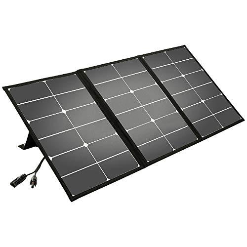 Litionite Arun 60W Faltbares und tragbares Solarpanel mit geneigter Unterstützung - Anschluss MC4/DC -...