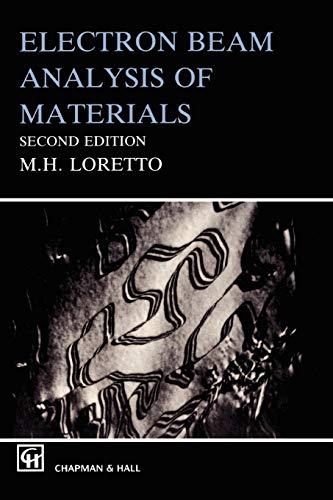 Electron Beam Analysis of Materials (World Society Studies; 3)