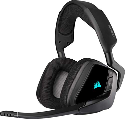 Corsair Void Elite RGB Wireless Gaming Headset (7.1 Surround Sound, Ultraniedrige Latenz, 12 Meter Reichweite,...