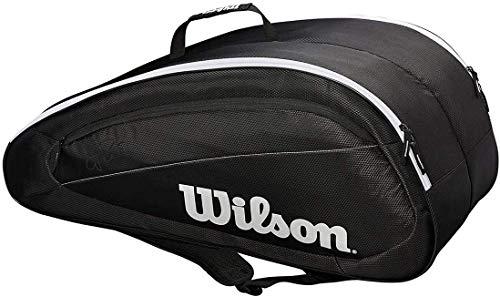 Wilson Team Federer 6er-Tennistasche schwarz/weiss