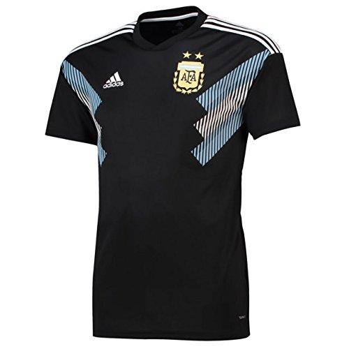 adidas Herren Argentinien Auswärtstrikot, Black/Clblue/White, S