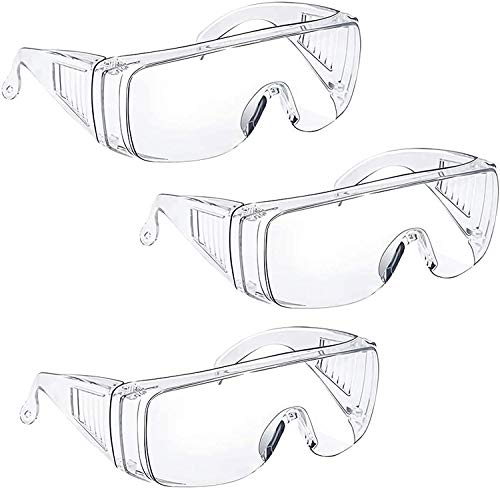 Schutzbrille für Brillenträger - Tavool Antibeschlag-Schutzbrille Augenschutz mit klarer Sicht, Kratzfest...