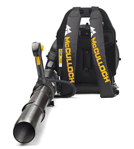 McCulloch Rücken-Laubbläser GB 355 BP, Garten Bläser mit 1500 W Motorleistung, variable Drehzahl, mit...