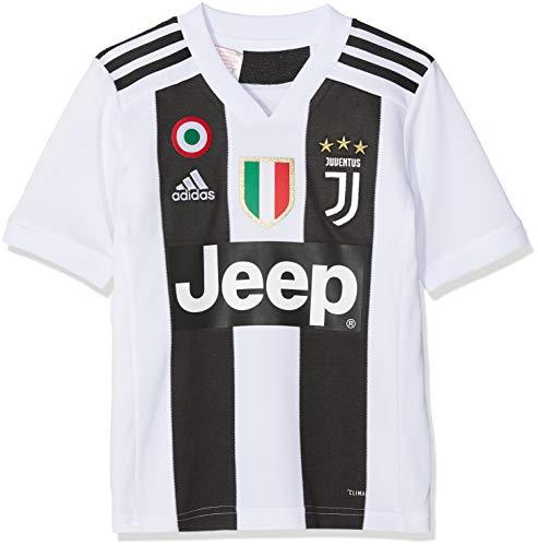 adidas Juve H JSY Y Gara Home 2018/2019 Cristiano Ronaldo Trikot für Kinder, Jungen, CF3496-CR7, Bianco...