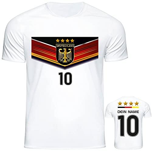 DE FANSHOP Deutschland Trikot mit GRATIS Wunschname Nummer #D7 2021 2022 EM/WM weiß - Geschenk für Kinder...