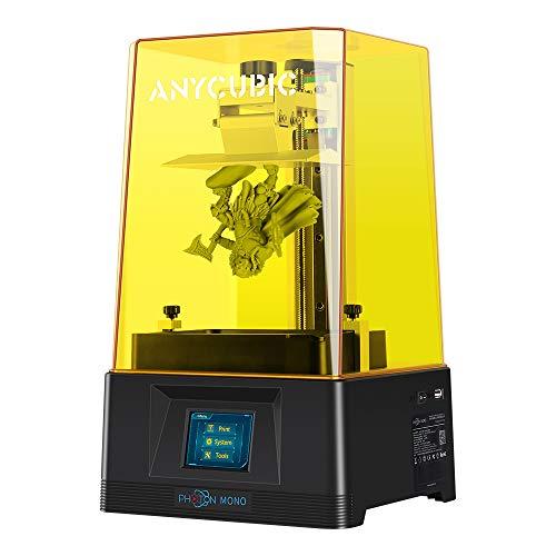 ANYCUBIC Photon Mono 3D Drucker, UV-lichthärtender LCD Harz 3D-Drucker Schneller Druck mit 6 Zoll 2K...