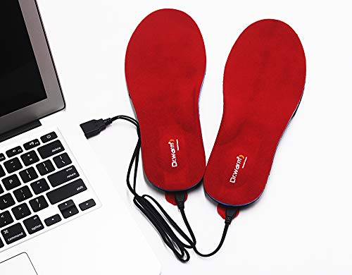 Dr.Warm Beheizbare Einlegesohlen Thermosohlen mit Intelligentem Drahtlose Fernbedienung, USB Wiederaufladbar...