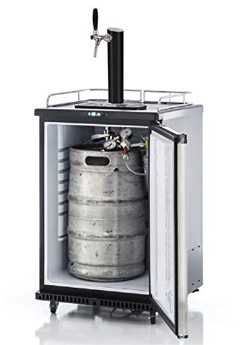 Fassbierkühlschrank 50l Fässer mit Schwarzer Schanksäule, Keg, Uhr, Schläuche & Co²