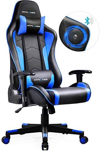 GTPLAYER Gaming Stuhl mit Lautsprecher Bürostuhl Schreibtischstuhl Musik Audio Gamer Stuhl Drehstuhl...