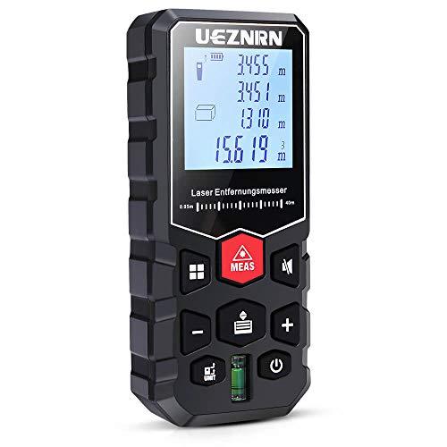 Ueznirn Laser Entfernungsmesser Distanzmessgerät Messbereich: 0,05~40m, Lasermessgerät Genauigkeit: ±2 mm,...