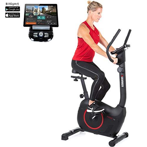 HAMMER Heimtrainer Cardio T3, geringer Einstiegs-Widerstand, besonders leises Fitnessfahrrad, Comfort-Sattel,...