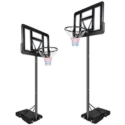 YOLEO Basketballkorb 2,3 bis 3,05 Meter höhenverstellbar mit Ständer Korbanlage Outdoor beweglich für...