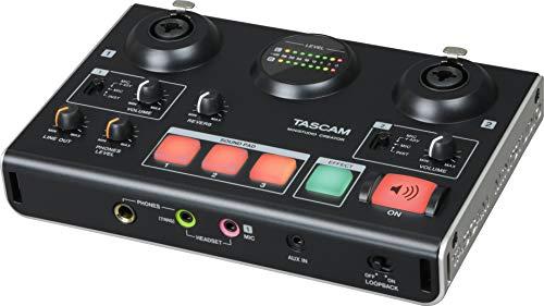 Tascam MiNiSTUDIO Creator US-42B – USB-Audio-Interface für Streaming, Podcasting, Personal Broadcasting,...