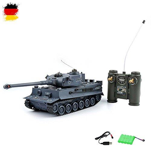 HSP Himoto German Tiger I - RC Ferngesteuerter 2,4Ghz Panzer 1/28 Modell, Tank, Gefechtmodi, Schusssimulation,...