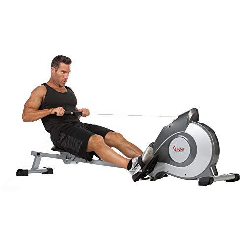 Sunny Health & Fitness Rudergerät mit Magnetwiderstand, LCD-Monitor, 8-stufigem Widerstand, 1117 mm...