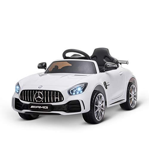 HOMCOM Kinderfahrzeug Mercedes-AMG GTR Elektroauto mit Fernbedienung Musik(MP3/USB) Licht 3–6 Jahre PP...