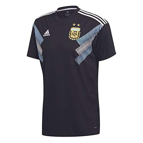 adidas Kinder Argentinien Replica Auswärtstrikot, Black/Clblue/White, 128.0