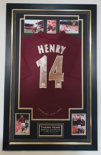 Seltenes Trikot mit Autogramm, Thierry Henry von Arsenal, letztes Spiel in Highbury