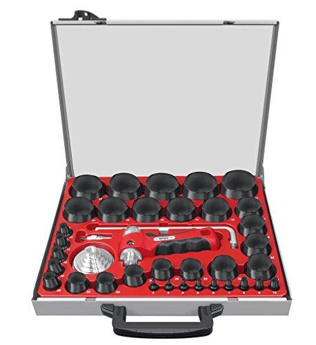 Paffrath 0810260 Satz koppelbare Lochstanzer, Durchmesser 2-60 mm inkl. Kreisschneider