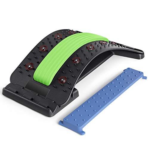 SODOLIFE Rückenstrecker Muskelverspannungen Fitness Back Stretcher 4 Stufen Einstellbar Rückendehner...