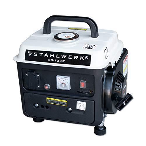 STAHLWERK Stromgenerator SG-20, 2 PS, Benzingenerator, Stromerzeuger, Notstrom-Aggregat, zuverlässig und...