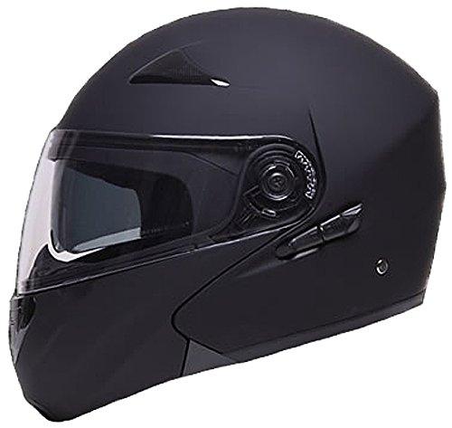 Klapphelm Integralhelm Helm Motorradhelm RALLOX 109 schwarz matt mit Sonnenvisier Größe XL