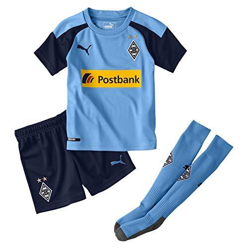 PUMA Jungen BMG Away Minikit mit sponsor Trikot BMG Away Minikit with sponsor, Team Light Blue/Peacoat, 116...