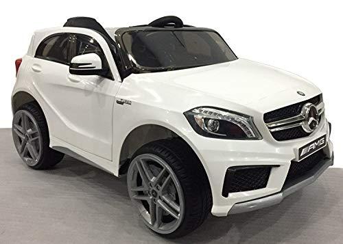 RIRICAR Kinderauto Elektro, Mercedes-Benz A45 AMG, weiß, 1 Sitzer, mit 2.4 Ghz Fernbedienung, 36 Monate - 7...