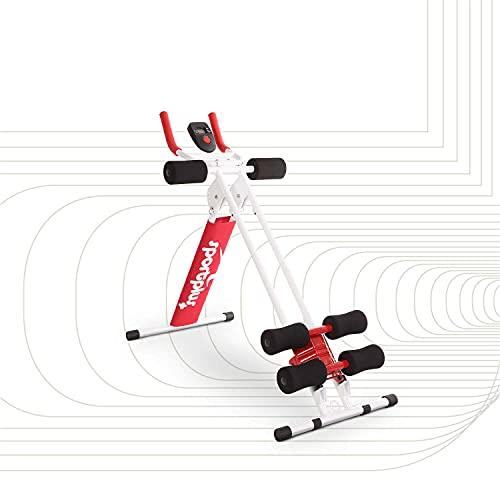 SportPlus Bauchtrainer, klappbarer Bauchmuskeltrainer, Verschiedene Schwierigkeitsstufen, effektives...