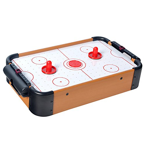 Mini Air Hockey Tisch mit Zubehr Airhockey-Tisch Spielfeld Schiebern Pucks Puscher und Torzhler Tischspiel fr...