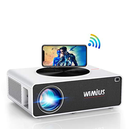 "WiFi Beamer, WiMiUS 7000 Lumen 1080P Full HD Beamer Unterstützung 4K LED Heimkino Videobeamer 300"" Display..."
