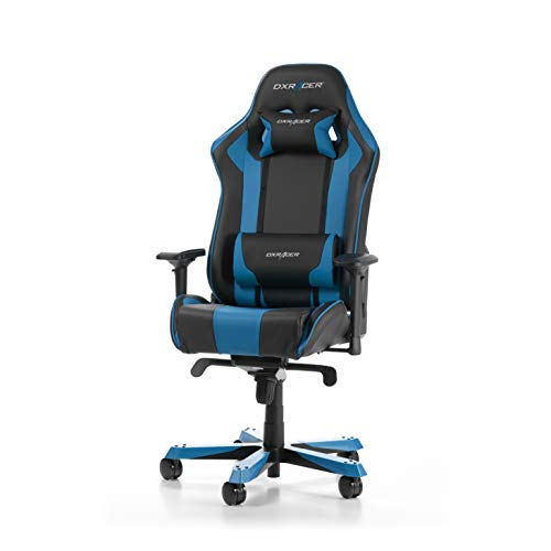 DXRacer King Series K06-NB Gaming Stuhl aus Kunstleder, Schwarz-Blau