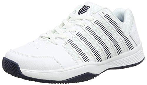 K-Swiss  Court Impact Hb,  Herren Tennisschuhe , Weiß - White (White/Silver/Dressblue 117) - Größe: 45