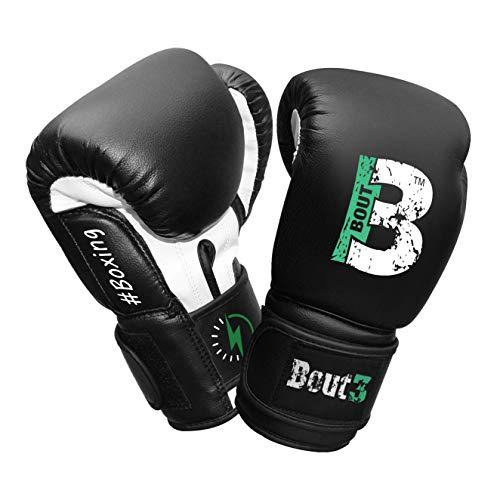BOUT3® Kinder Boxhandschuhe | Kickboxen, Muay Thai Sparring, Training | Boxsack - Sandsack für Boxen |...