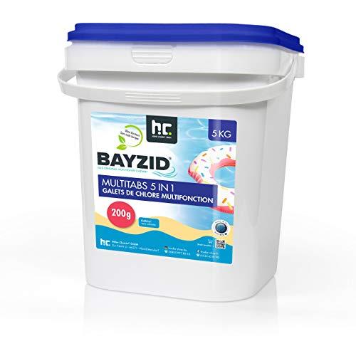 Höfer Chemie Chlor Multitabs 5 in 1-200g Tabs Multi Chlortabletten - 2 x 5kg mit 5 Phasen Pflegewirkung für...