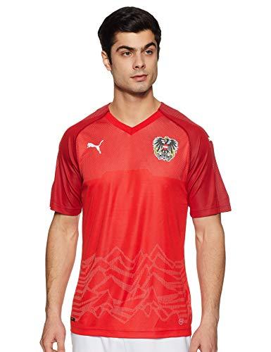 PUMA Herren Austria Home Replica Shirt, rot (Puma Red-Chili Pepper), M