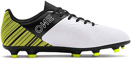 Puma Herren ONE 5.4 FG/AG Fußballschuhe, Weiß (Puma White-Puma Black-Yellow Alert), 43 EU