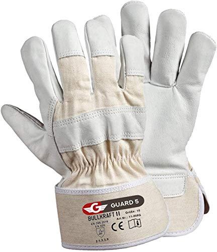GUARD 5 - Leder- Arbeitshandschuhe 5 Paar/Größe 9 hochwertige robuste Gartenhandschuhe Schutzhandschuhe...