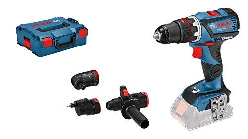 Bosch Professional 18V System Akku-Bohrschrauber GSR 18V-60 FC (inkl. 4x Aufsätzen, ohne Akkus und...
