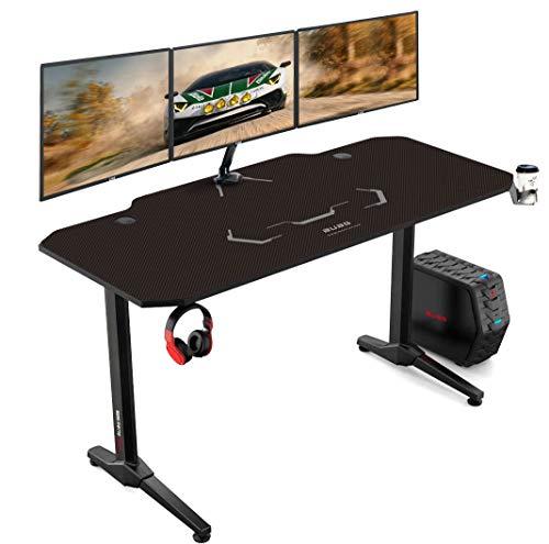 AuAg 140 cm Gaming Tisch Racing Style Gaming Tisch Computer Schreibtisch Workstation T-förmig Büro PC...