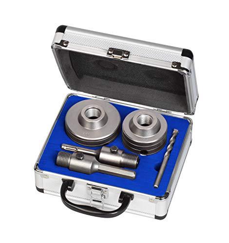 MK Handel - SDS-Bohrkronen - Bohrkronensatz mit SDS und Sechskantschaft 66 und 80 mm, inkl. Zentrierbohrer und...
