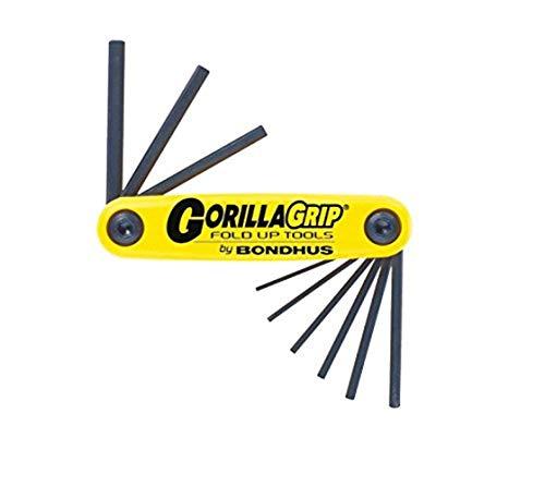 Bondhus 12591 GorillaGrip Sechskant Inbusschlüssel Set Inch Zoll 0.050-3/16 HF9S