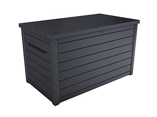 Koll-Living Auflagenbox/Kissenbox Goliath XXL 870 Liter Farbe : Graphit l 100% Wasserdicht l mit Belüftung...