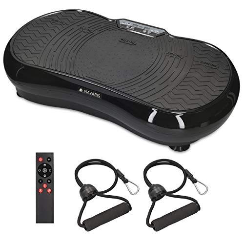 Navaris Vibrationsplatte Ganzkörper Sportgerät - Vibration Shaper Platte Fitness Training Bauch Beine Po -...