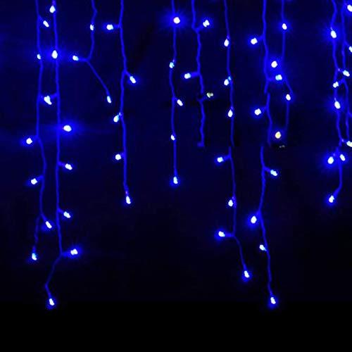Luccase LED Vorhang Lichte 5 x 0,8 m 216 LED Wasserdichtes Lichterketten Lcicle Light Ausziehbares Licht mit...