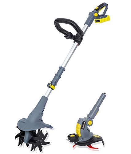 FANZTOOL 20V Motorhacke Mini-Bodenhacke Bodenkrümler Gartenhacke Kultivator mit 20cm Arbeitsbreite und...