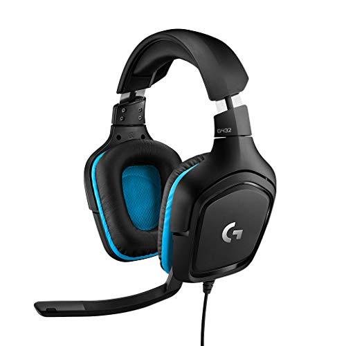 Logitech G432 kabelgebundenes Gaming-Headset, 7.1 Surround Sound, DTS Headphone:X 2.0, Bügelmikrofon mit...