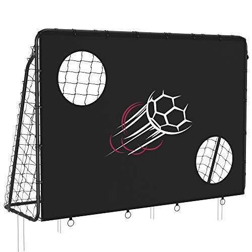 SONGMICS Fußballtor für Kinder, mit Torwand, schnelle Montage, Garten, Park, Strand, Eisenrohre und PE-Netz,...