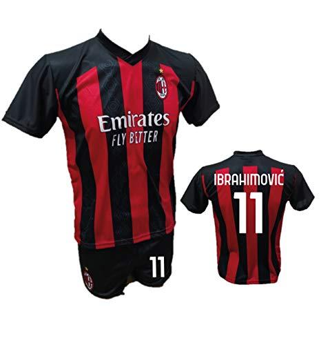 DND Di Andolfo Ciro Fußballtrikot Zlatan Ibrahimovic Milan und Shorts mit Nummer 11 bedruckt Replik...
